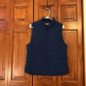 Ann Taylor Loft Vest, turquoise, size M